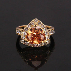Free Jewelry -  Red And Orange Bridal Ring - Clever Clad