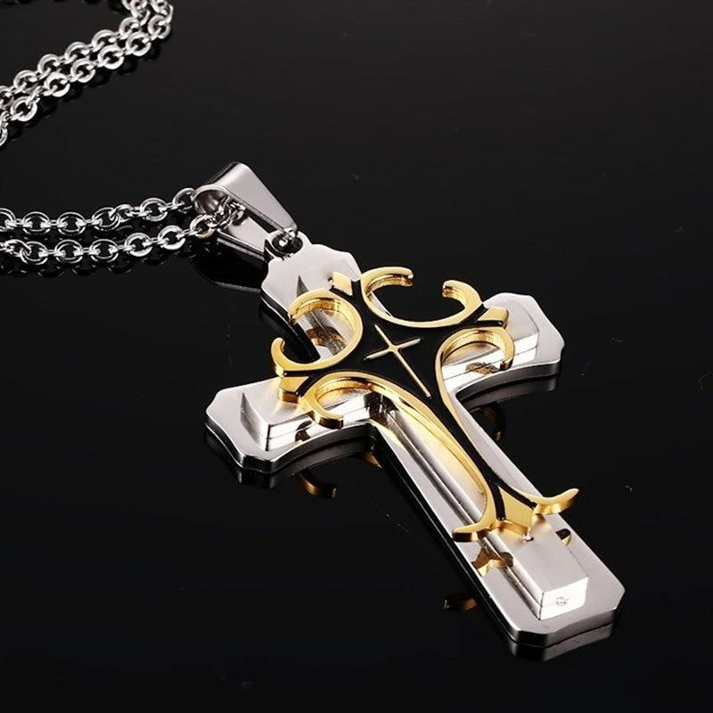 Multi Layer Creative Cross Pendant