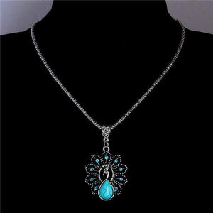 Free Jewelry - Peacock Turquoise Stone Necklace - Clever Clad