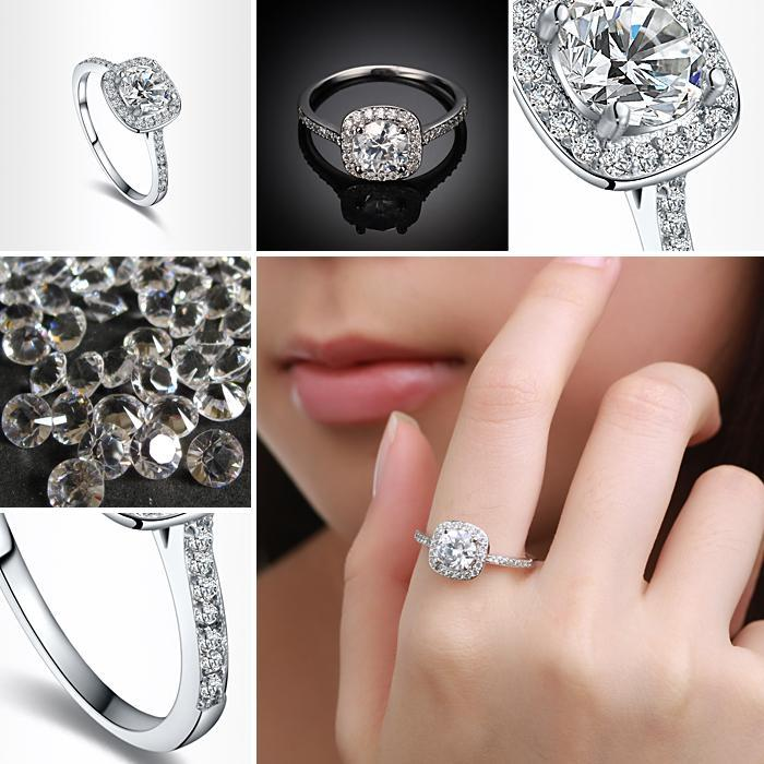 2018 Luxury Rhinestones Studded Wedding Ring