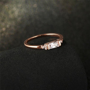 2018 Classy Rectangular Zirconia Engagement Ring