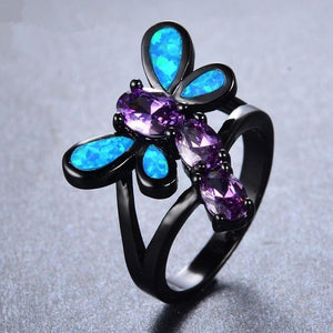 Lovely Dragonfly Wedding Ring