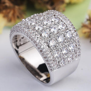 Exaggerated Zircon Crystal Ring
