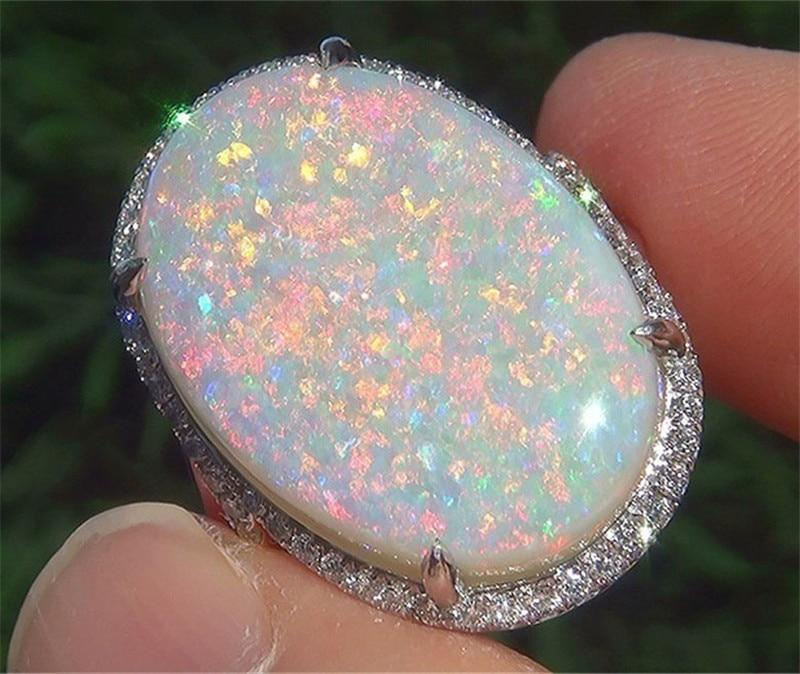 Oval Design Fire Opal Ring