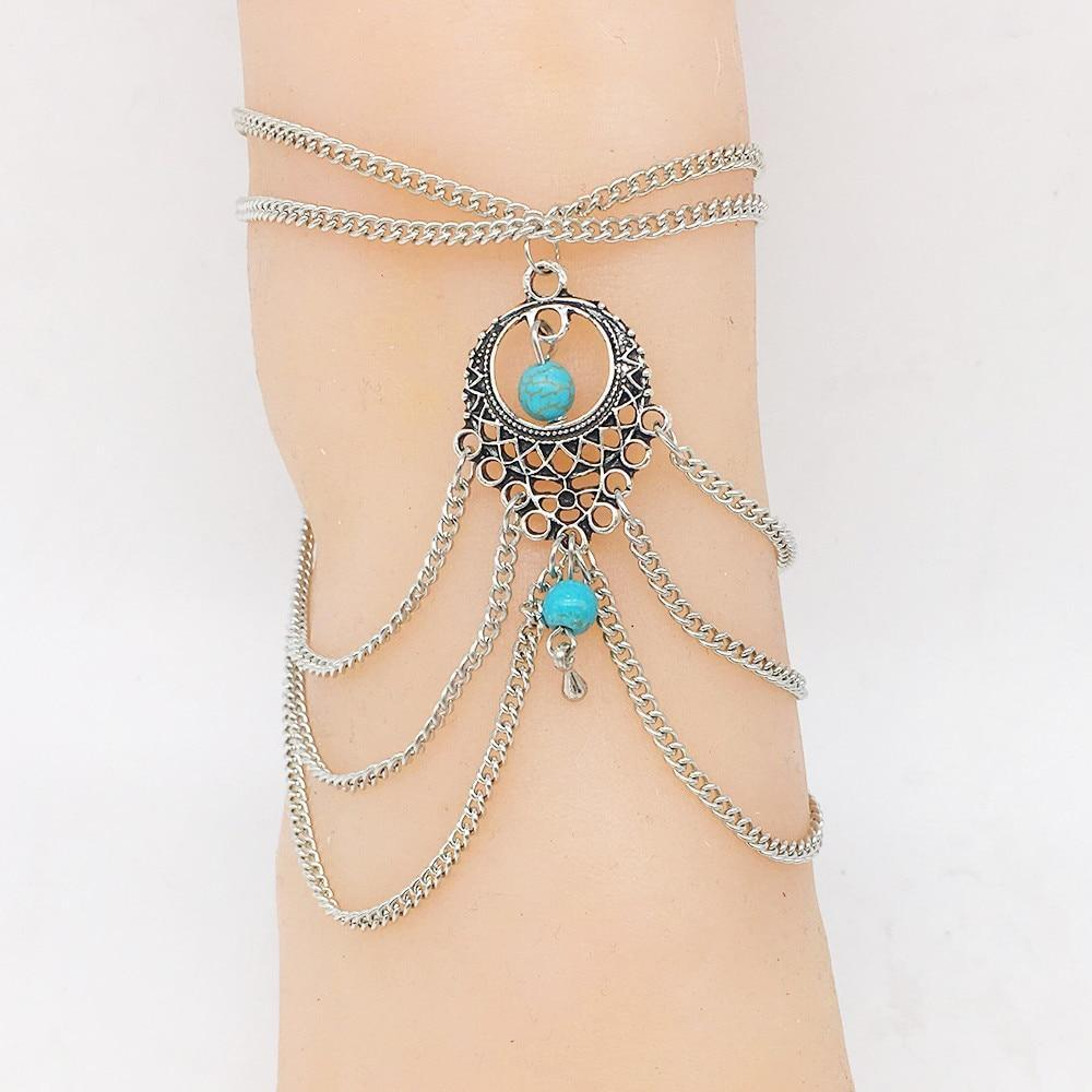Tassels Multilayer Anklet Foot Jewelry