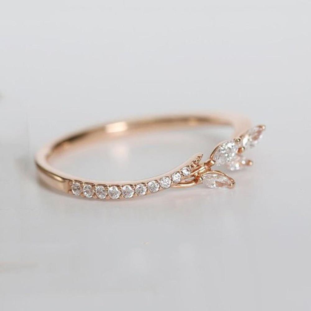 Simple Floral Crystal Ring