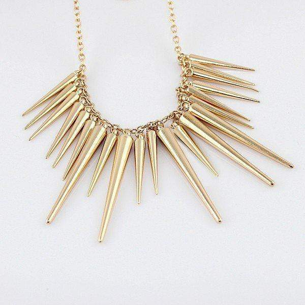 Free Jewelry - Chain Spike Necklace - Clever Clad