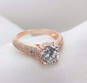 2018 Glamorous Real Austrian Crystal Wedding Ring Band