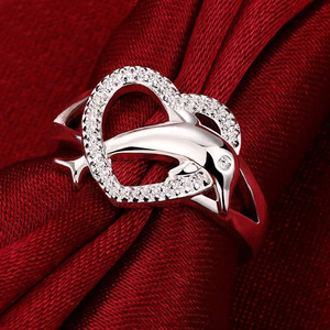 Free Jewelry - Dolphin Heart Ring - Clever Clad