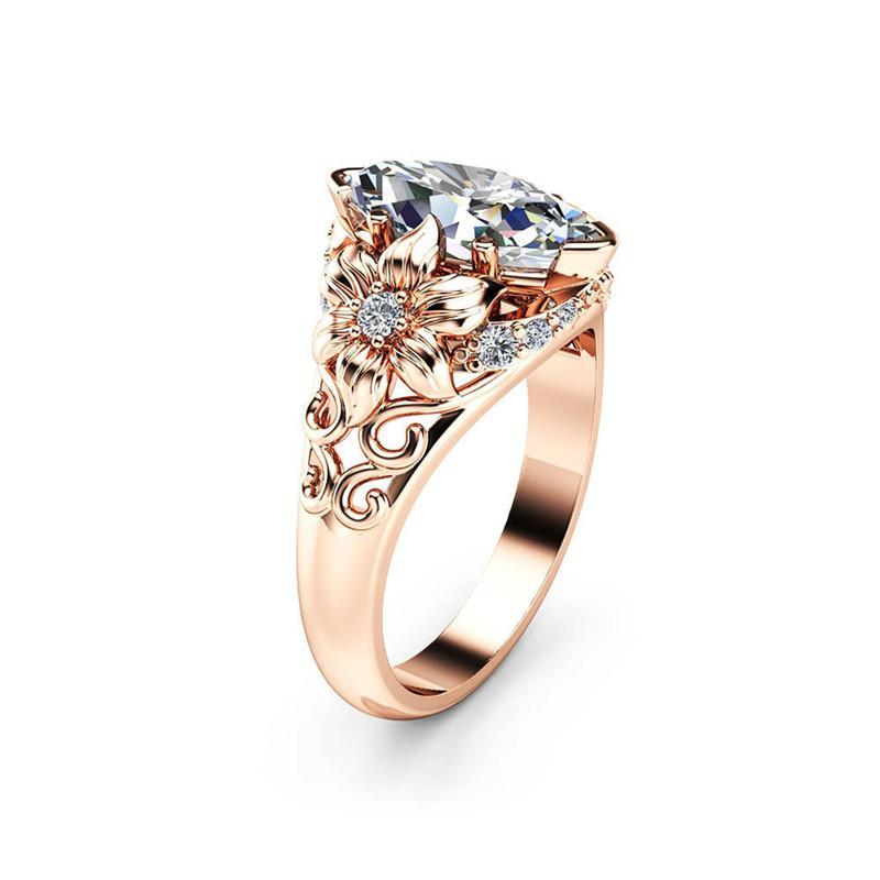 2021 Modern Luxury AAA+ Zirconia Engagement/Wedding Ring