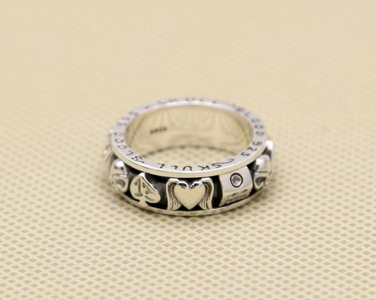 Gothic Skull Gamble Love Ring
