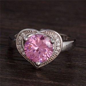 Free Jewelry -  Cubic Heart Ring - Clever Clad