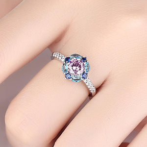 Flower Created Crystal Ring