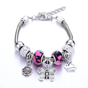 Princess Butterfly Flower Crown Bracelet