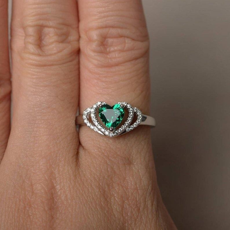 Romantic Double Heart Ring