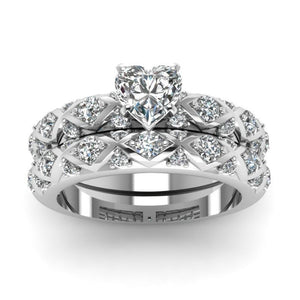 2pcs Love wedding Ring