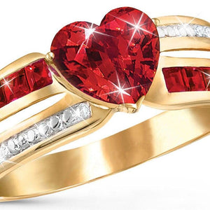 Love Red Heart Ring
