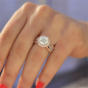 Round CZ Crystal ring