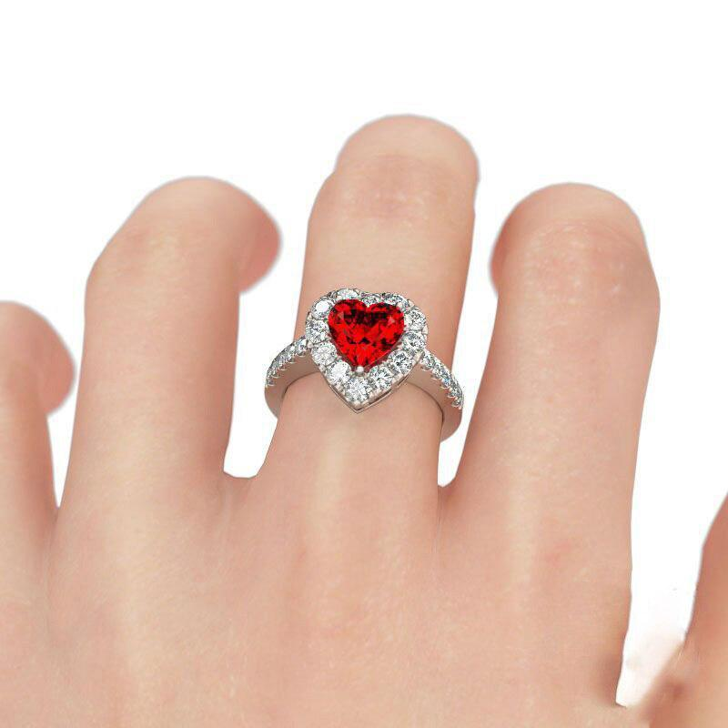 Love Heart Romantic Finger Ring