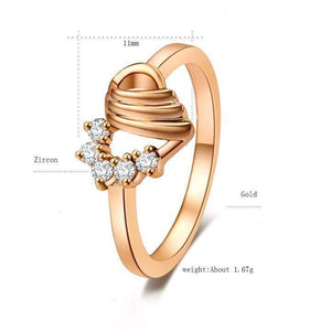 Top Quality Glamorous Heart Bridal Ring