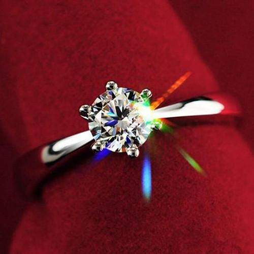 Free Jewelry - Zircon Inlaid Wedding Ring - Clever Clad
