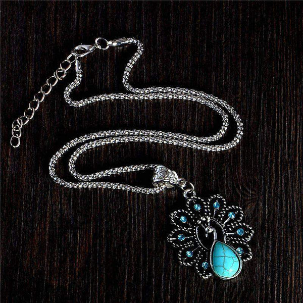 Peacock Turquoise Stone Necklace