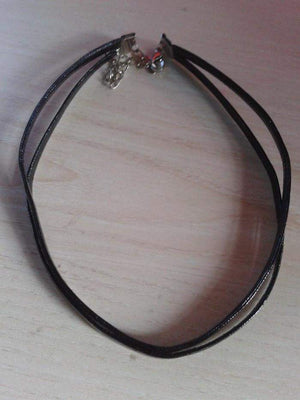 Free Jewelry - Double Layer Black Leather Necklace - Clever Clad