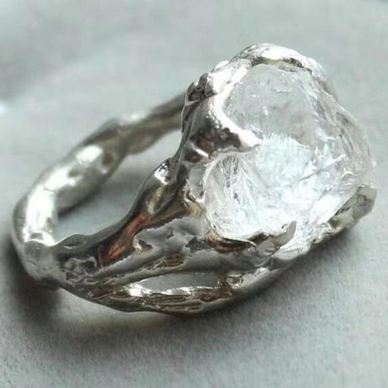 Huge Clear irregular Stone Ring