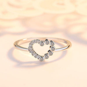 Openwork Pure Heart Lady Ring