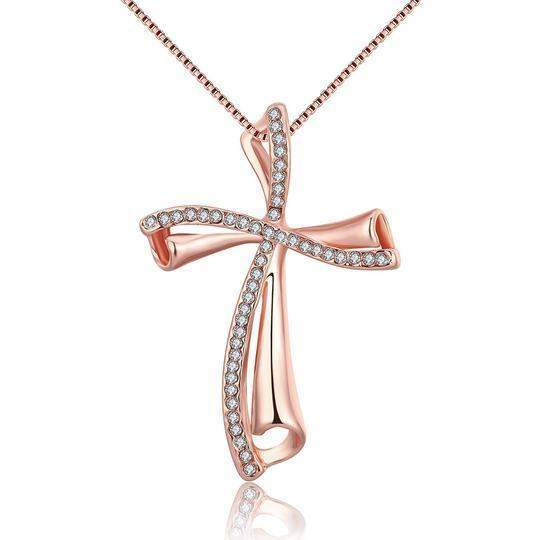 Top Rated Classic Austrian Crystals Cross Necklace