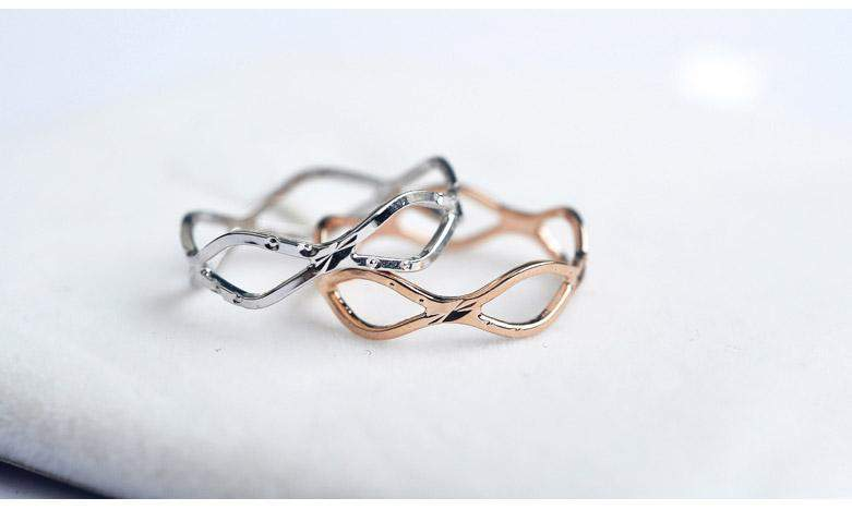 2018 Infinity Waves Wedding Ring Band