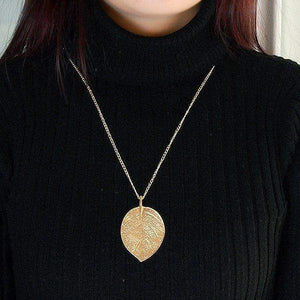 Free Jewelry -  Leaf Pendant Necklace - Clever Clad