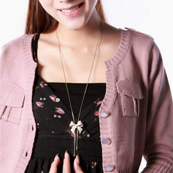 Free Jewelry - Bow Necklace - Clever Clad