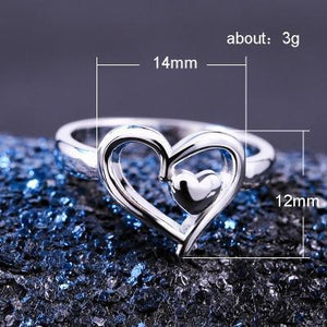 Double Heart Best Design Ring