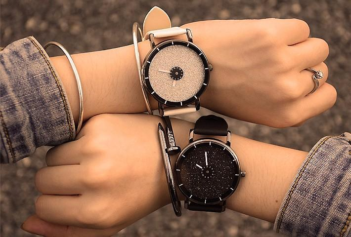 Hot Sale! Top Quality Starry Sky Leather Wrist Watch