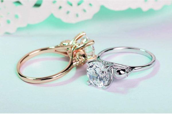 2018 Precious Rose Zirconia Engagement / Wedding Ring