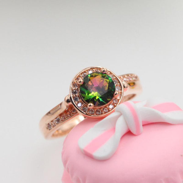 2018 Best Selling Colorful Zirconia Bridal Ring