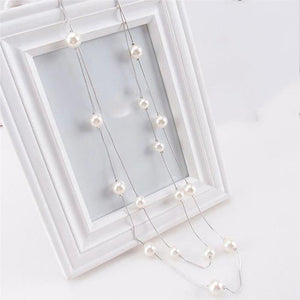 Double Layer Simulated Pearls Necklace