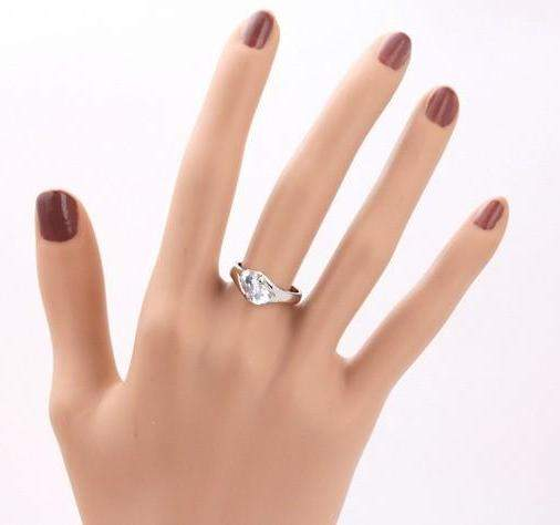 2018 Pure Love Real Austrian Crytal Wedding Ring