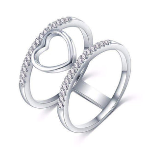 Best Selling Two-Tone Lovely Heart Promise Ring