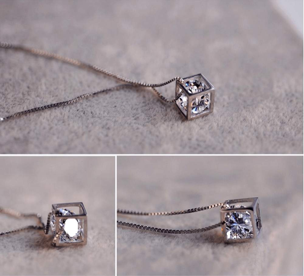 Free Jewelry - Stone Cube Pendant - Clever Clad