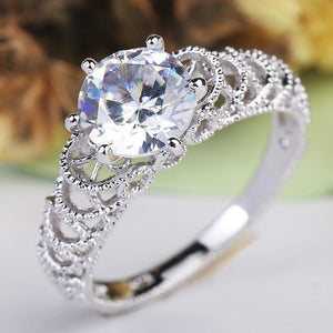 Wave Romantic Crystal Infinity Ring
