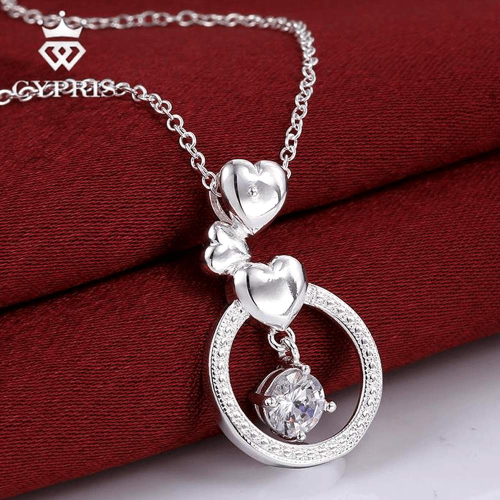 Free Jewelry - Three Heart Pendant Necklace - Clever Clad