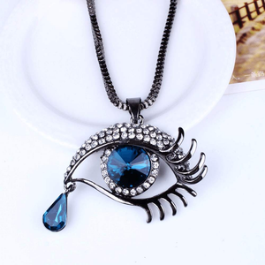 Free Jewelry - Eye With Tear Necklace - Clever Clad