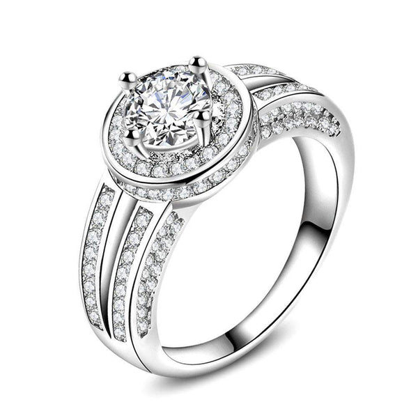 2018 Micro AAA Zircon Bridal Ring