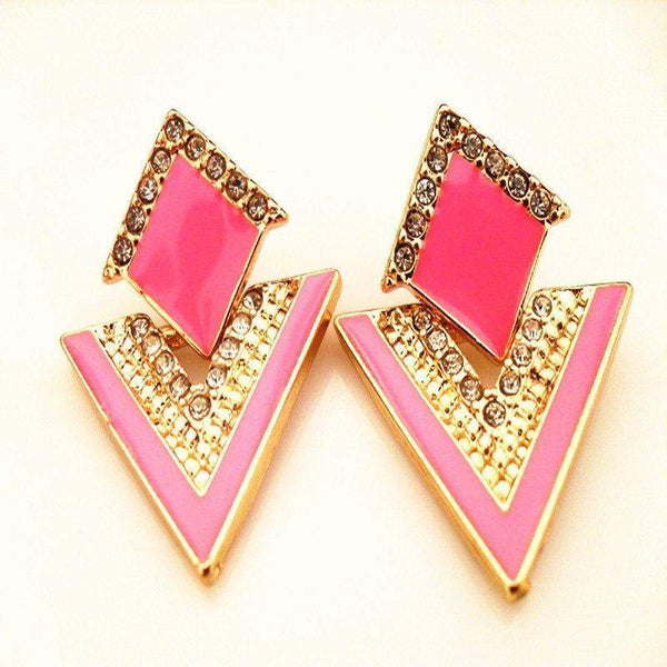 Free Jewelry - Multicolor Chromophous Sparkling Stud Earring - Clever Clad