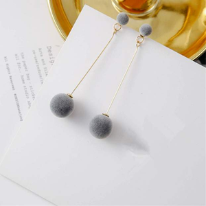 Round Long Tassel Earrings