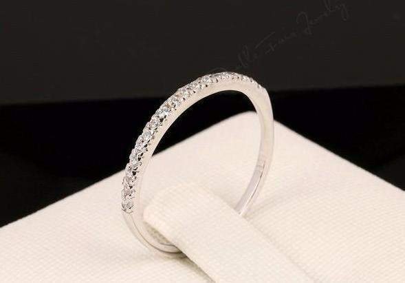 Top Quality Micro Pave AAA+ Cubic Zirconia Wedding Ring