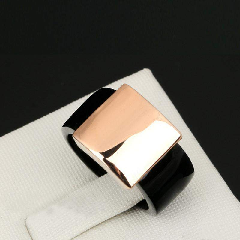 Top Selling Smooth Metal Rose Statement Ring
