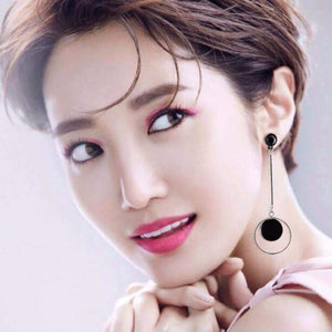 Korean Fashion Geometric Long Asymmetry Earring
